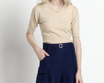 Vintage 60s Navy Blue High Waisted Uniform Shorts | XS/S