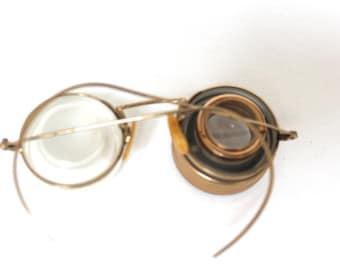 Antique Shuron Ful Vue 1920s Optometrist Measuring Device // Optical 12k Gold Filled // Edwardian Oculus // Steampunk