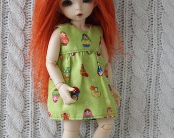 Light and Sweet Carrot mohair wig for Littlefee / other YoSD sized / Unoa / Enyo doll