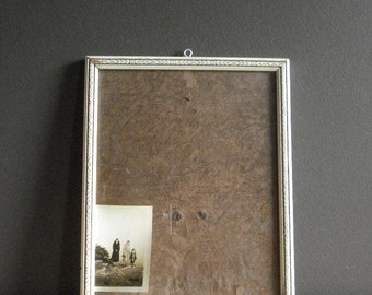 Carved Cream- Vintage Wooden Picture Frame - Cream or White Photo Frame with Carved Detailing - With Glass - Wood Frame