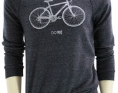 Bicycle. Men's sweatshirt. Infinite Bike MPG art by MATLEY. Soft organic cotton blend. Classic sweatshirt. Great gift for him. Cyclist. Bike