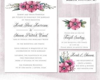 lds wedding invite etsy