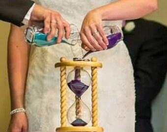 Heirloom Wedding Hourglass - The Hanalei Wedding Unity Sand Ceremony Hourglass