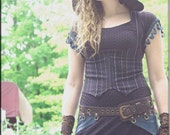 Dress - Steampunk - Long Sexy Black Dress - Bohemian Gothic Gypsy - Burning Man - Hooded Dress - Boheme - Sexy - Fetish - Size Medium