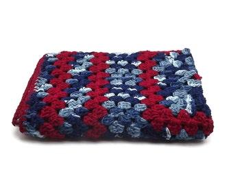 Crochet Baby Blanket, Boy's Baby Blanket, Baby Afghan, Newborn Gift, Granny Square, Baby  Gift, Receiving Blanket, Stroller Blanket,