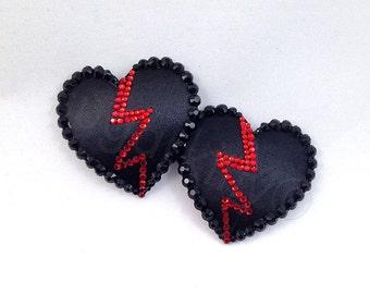 Anti-Valentine's Day Broken Heart Nipple Pasties - SugarKitty Couture