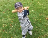 Baseball Uniforms for Photo Prop Or dress up, 3 piece,  Made to Order in Children's sizes