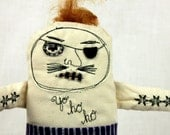 Pirate Jolly Roger/ Little Pirates/ stuffies /plushies/ art dolls/ one of a kind