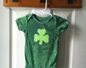 St. Patrick's Day Baby Bodysuit (12 months), Green Shamrock Baby Bodysuit, Baby Shamrock Bodysuit, Irish Baby Gift