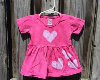 Valentine's Day Dress, Baby Valentines Dress, Pink Baby Dress, Pink Hearts Dress, Pink Baby Gift, Baby Girl Gift, Shower Gift (6 months)