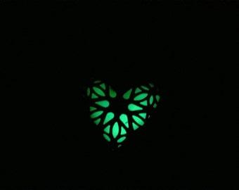 Glow in the Dark Heart Earrings,Lockett Earrings,Green Glow