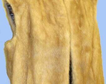Women's Vintage Blonde Mink Vest Size M