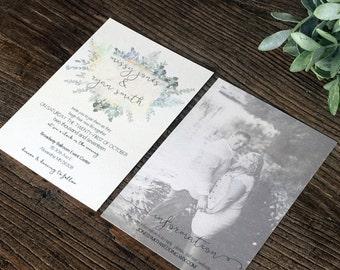 Eucalyptus & Floral Wedding Invitations · printable wedding invitations (203)