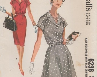 McCalls 6236 / Vintage 60s Sewing Pattern / Dress / Bust 41