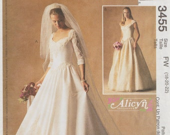 McCalls 3455 / Out Of Print Sewing Pattern / Bridal Gown Wedding Dress / Bride Bridesmaid / Sizes 18 20 22