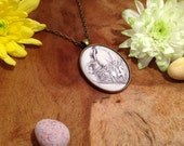 Hare Necklace - I Love Hares - Animal Spirit Necklace - Winter Hare - Hare Totem - Wild Hare