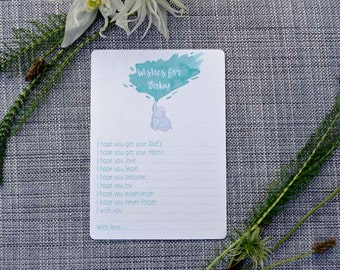 Printable Elephant Baby Shower Activity- Wishes for Baby