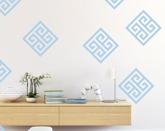 Greek Key, Geometric Wall Decal, Dorm Decor, Nursery Wall Decal, Apartment Decor, Apartment Wall Art, Office Wall Decor, Fret Pattern
