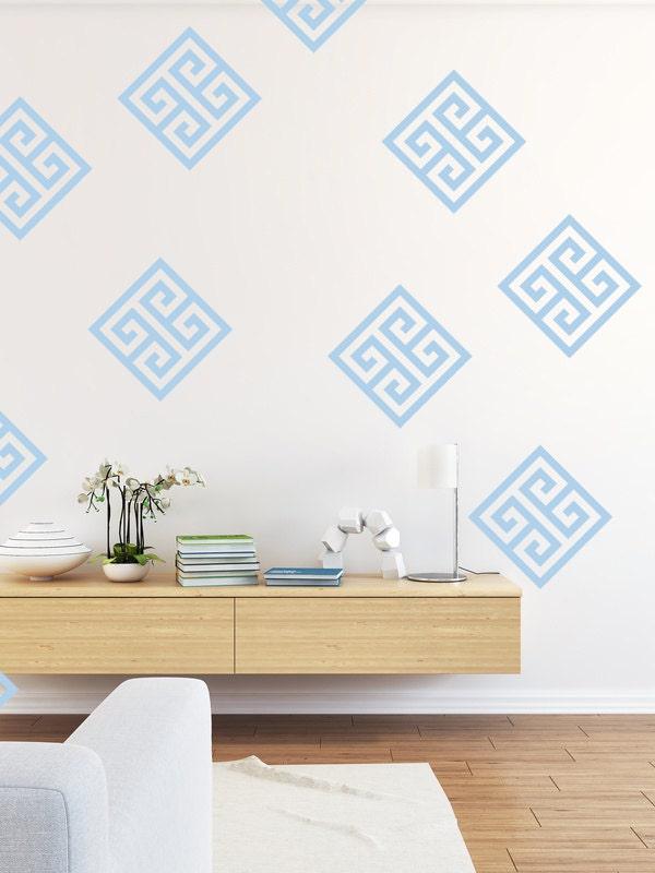 Greek Key Wall Decor : Greek key geometric wall decal dorm decor nursery
