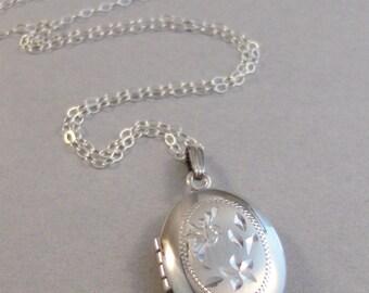 Harper,Vintage Locket,Sterling Silver Locket,Vintage Sterling,Locket,Vintage,Necklace,Silver Locket,OOAK Sterling Silver Locket,Wedding,