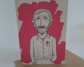 JEREMY CORBYN greetings card//blank inside//comrade//illustration