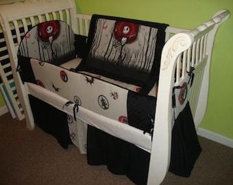 Winter SALE Rare OOP 4 piece Nightmare before christmas crib bedding