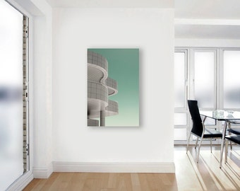 Modern Abstract Canvas Wall Art, Mint, White, Getty Museum Photograph on Canvas, Large Wall Art Canvas