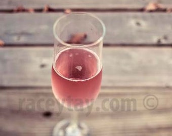 Pink Champagne, Brown, Pink, Food Photography, Rustic Kitchen Decor, Romantic Fall Decor