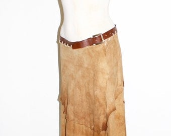 DOLCE & GABBANA Vintage Goatskin Skirt Hippie Belt Wrap  - AUTHENTIC -