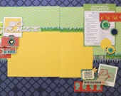 "SO CRAZY Fun Family finished TWO 12""x12"" Scrapbook Pages Double Layout"