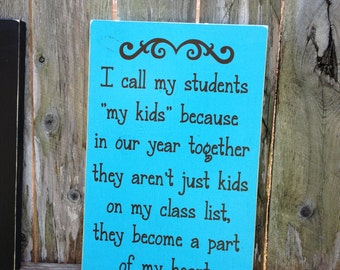 READY TO SHIP Custom Wood Sign ~Great Teacher ~Gift ~Teacher Gifts ~Coach Gift ~Year End Gift ~School Gift ~School Sign ~Custom Teacher Gift