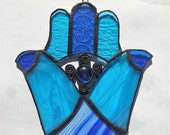 Israel Gift Hamsa Wall Decor Israel Stained glass Handmade Fatima's Hand