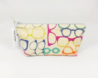 Glasses Cosmetic Pouch Shaving Toiletry Bag