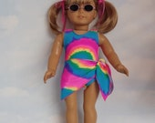 18 inch doll clothes - #106 Neon Pink Swimsuit and Sash handmade to fit the American Girl Doll - FREE SHIPPING