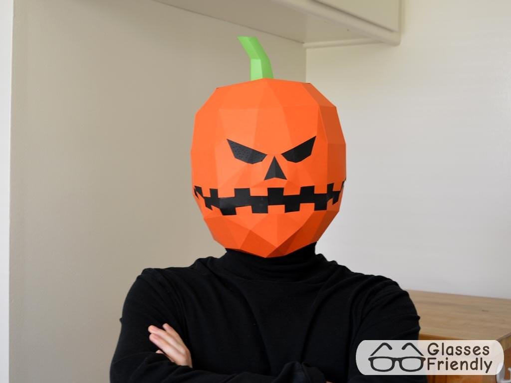 Make your own Jack-o-Lantern Mask - Paper Pattern Instant Download ...