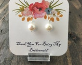 Thank You For Being My Bridesmaid Jewelry Packaging, Bridal Party Gift Packaging