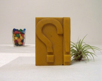 Punctuation Letterpress Question Mark Exclamation Point Symbols Vintage