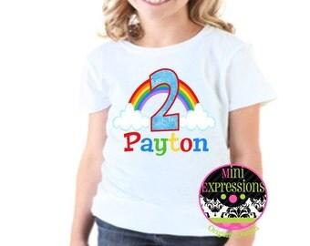Personalized Rainbow Birthday shirt