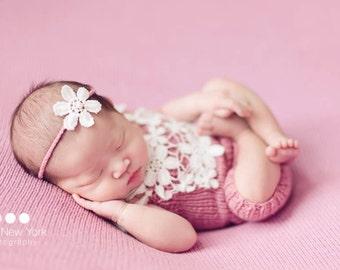Newborn photo prop,newborn girl,newborn headband set,newborn pants headband set,newborn photography prop,newborn pants,newborn romper set