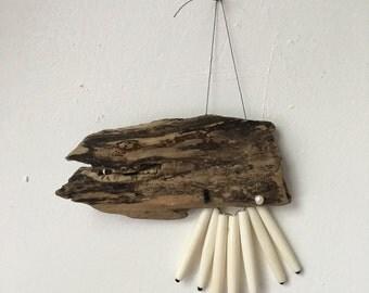 Driftwood, Bone & Pearl Wall Hanging