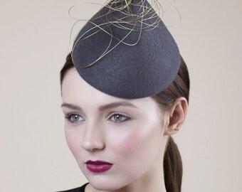 Races Hat, Hat for Occasons, Designer Millinery, Percher Hat - Monaco