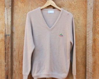 Vintage Pebble Beach V-Neck Sweater by Pickering USA - Men's Medium