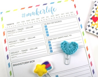 Small business #makerlife project notepad - Maker & shop owner workflow calendar, to-do list, weekly planner - note pad