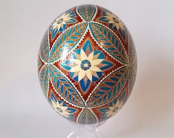 in stock Ostrich egg  Mother's Day gift fancy ostrich egg shell hand painted, batik dyed egg, Christmas gift for mother