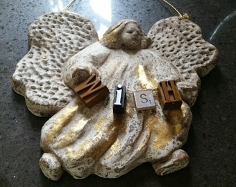 Christmas Angel Gold WISH