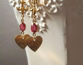 Jane Austen Jewelry - Assemblage Earrings - Spring Jewelry - Dainty Earrings - Janeite - Gift For Her - Womens Jewelry - OOAK