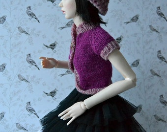 Hand-knitted set: beret, top and socks for Slim SD, Supia, SD13 etc.