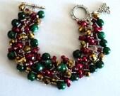 Charm Bracelet, Cha Cha Bracelet, Christmas Bracelet, Christmas Jewelry, Holiday Bracelet, Holiday Jewelry - CHRISTMAS CELEBRATION
