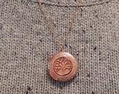 Tree of Life Locket,  Locket Necklace, Rose Gold Locket, Gift for Her