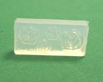 M28 Flexible Mold/Mould - 4 in 1 - Beautiful Rose for Making Miniature Food / Doll House Deco / Jewelry Making /Nail Art